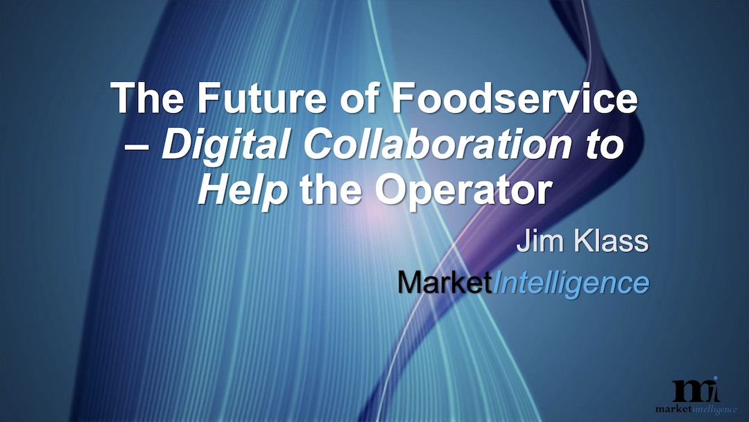 the future of foodservice - digital collaboration to help the operator